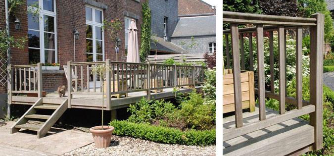 Terrasse en bois en Brabant, Wallonie et Bruxelles Terrasse sur